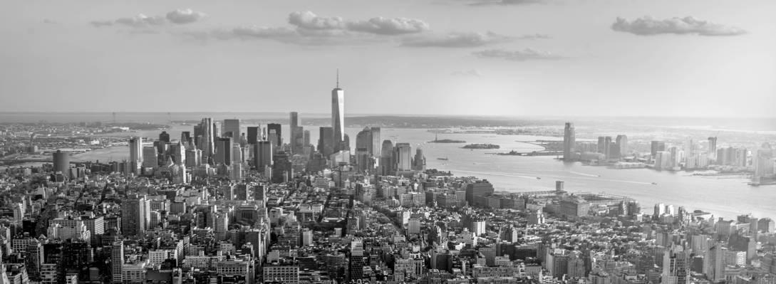 黑与白的比例建筑风景,曼哈顿高清壁纸