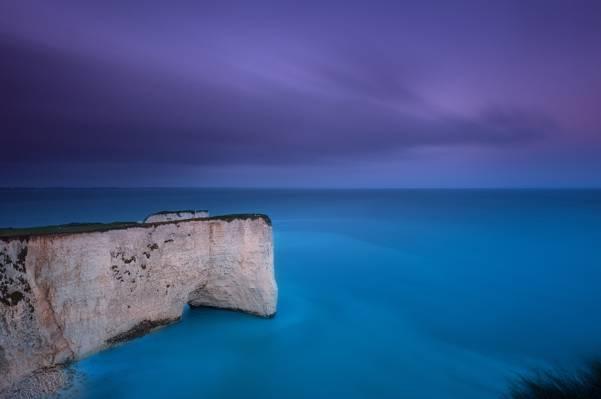 云,英格兰,湾,蓝色,英国,丁香,天空,岩石