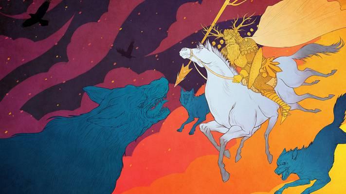 对手,其中之一,神,Fenrir,仙境传说,狼