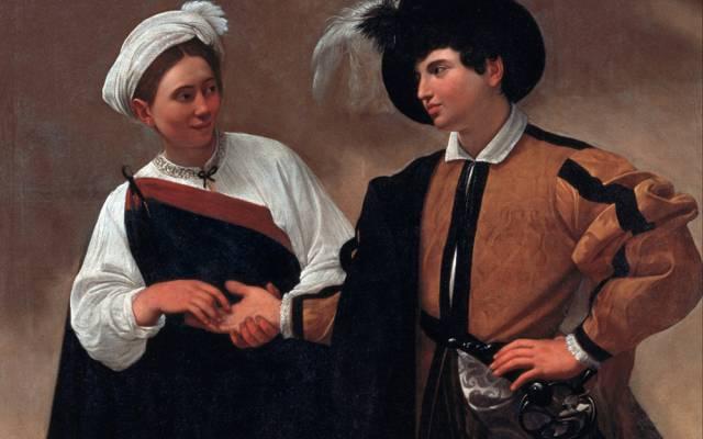 壁纸卡拉瓦乔,米开朗基罗Merisi da Caravaggio,算命先生,图片,流派,肖像