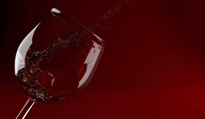 酒,玻璃,酒,红,玻璃