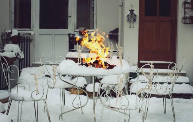 雪,冬天,火,摄影,人,木,摄影师,男人,宜家,摄影师,大卫Olkarny,火