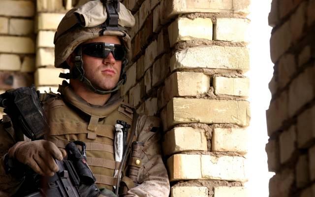 珍珠,砖,制服,美国海军陆战队员,护目镜