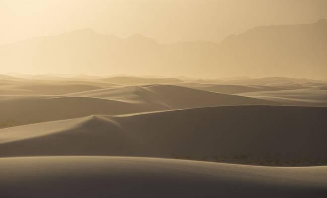 甜点在白天,白色的沙子国家纪念碑高清壁纸