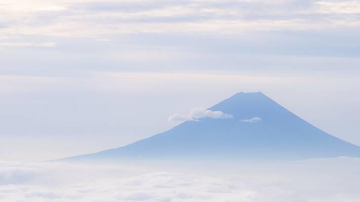 山,天空,云