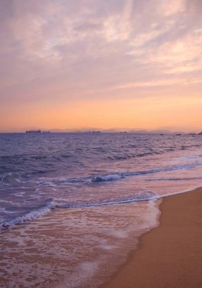 海边黄昏美景