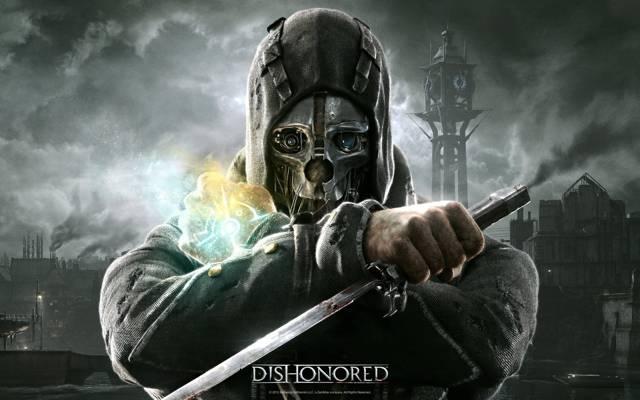 老,耻辱,贝塞斯达,面具,匕首,保镖