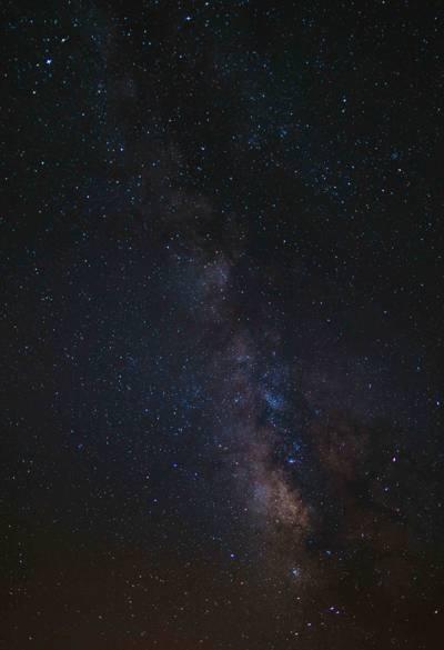 黑夜里的星空