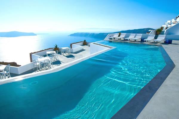 海,圣托里尼,希腊,游泳池,酒店