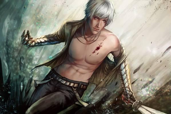 武器,血,剑,伤口,艺术,家伙,金属