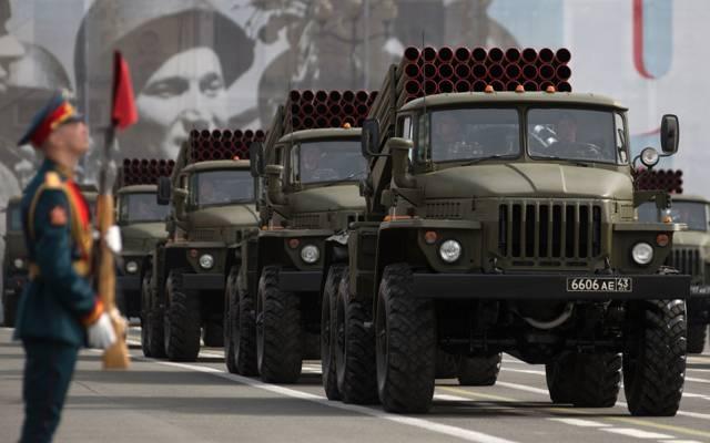 """(MLRS),BM-21,红场,喷射,射击,系统,""""毕业"""",齐射"""