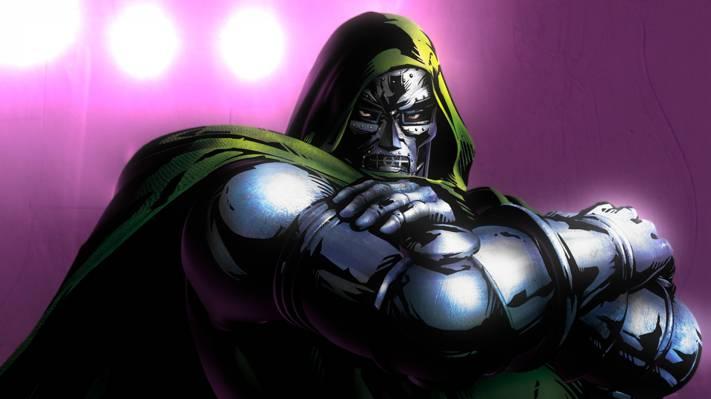 Doom医生,Victor von Doom,铁面具,神色,奇迹漫画。