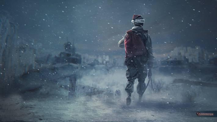 潜行者,士兵,追猎者,齐纳,帽子,Survarium,艺术,雪