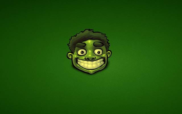 极简主义,绿色,绿巨人,快乐,奇迹,绿巨人,漫画