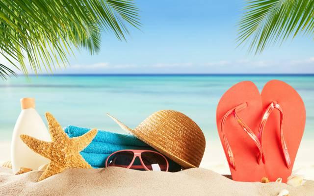 石板,太阳,眼镜,夏天,沙子,海,沙子,海滩,沙滩,假期,帽子
