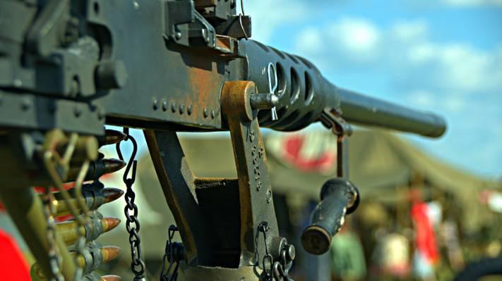 壁纸机枪,宏观,画架,勃朗宁M2,机枪