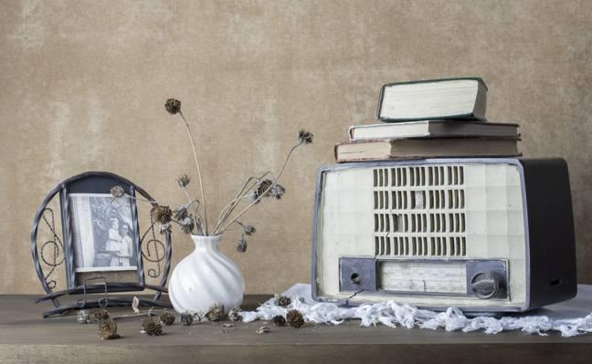 收音机,书籍,接收器