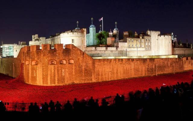 壁纸灯,塔,晚上,Maki,英格兰,伦敦