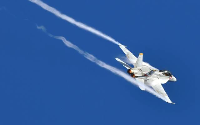 飞机,小道,麦克道格拉斯,攻击,F / A-18,歼击轰炸机,天空,大黄蜂