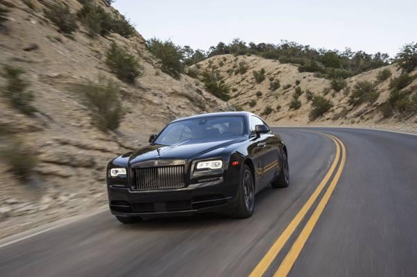 劳斯莱斯,速度,别致,劳斯莱斯,幽灵,车,速度,汽车,汽车,道路,黑色徽章