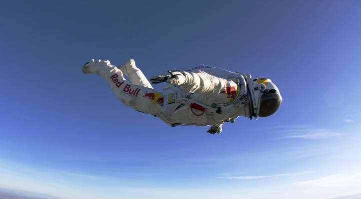 西装,飞行,费利克斯鲍姆加特纳,跳,跳伞