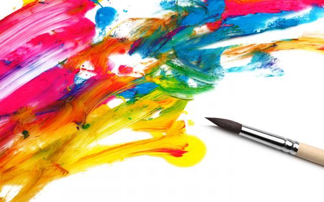 颜色,油漆,明亮,艺术家,绘画,画笔