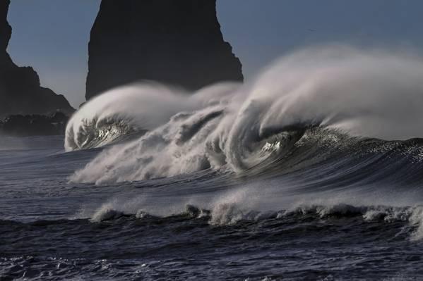 大海浪特写镜头照片HD墙纸