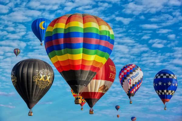 空中的热气球