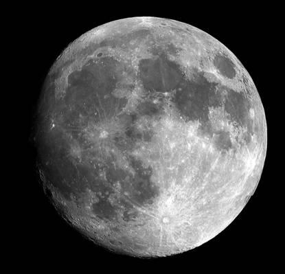灰色的满月高清壁纸