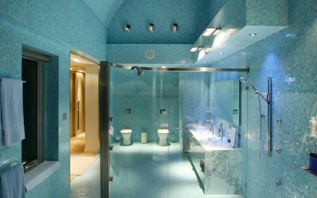 风格,淋浴,室内,照明,瓷砖,浴室,毛巾