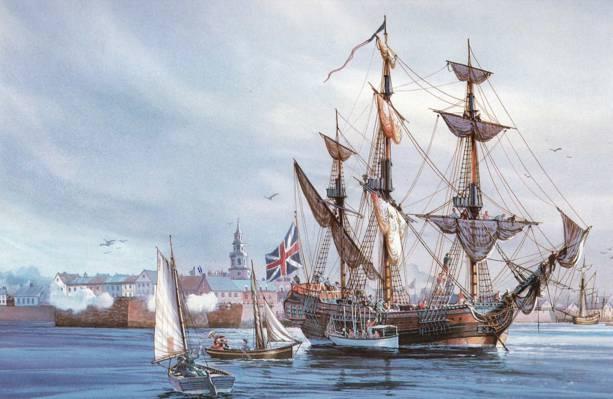 帆布,图片,堡,石油,索具,海,港口,小船,帆,水域,三桅,船帆船,水手,一个快乐,...