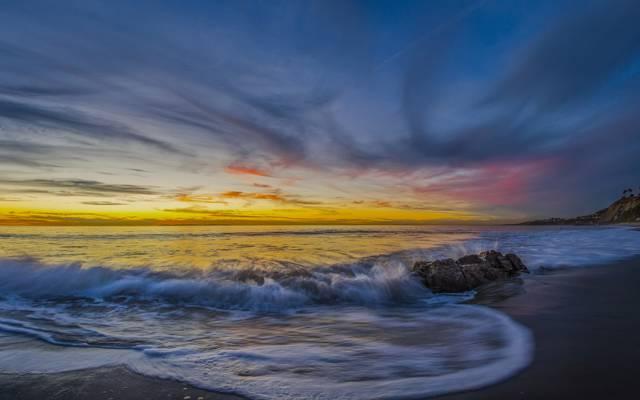 达纳点,君主海滩,加利福尼亚州,太平洋,海岸,沙滩,达纳点,海洋,加州,...