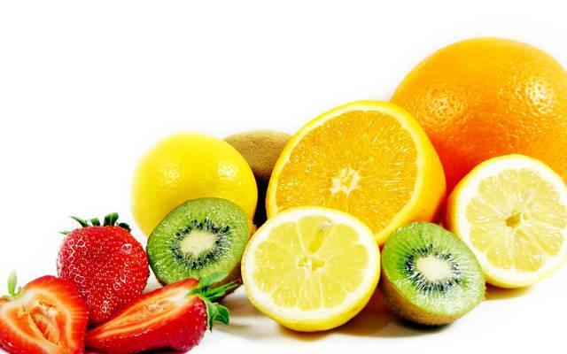 橙,水果,柠檬,猕猴桃,草莓
