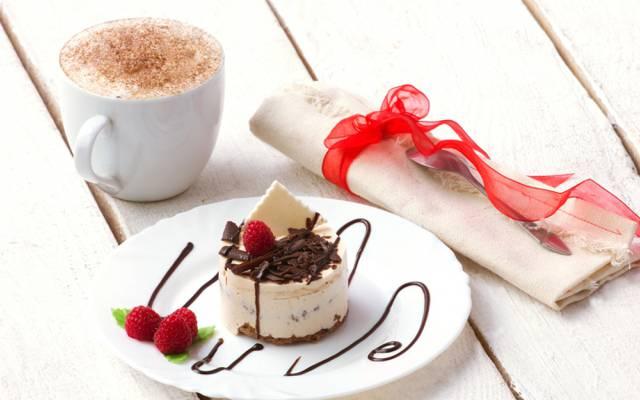 壁纸泡沫,餐巾,蛋糕,甜点,Malinka,咖啡,薄荷