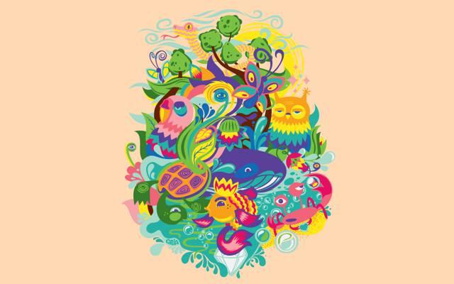 鲜花,蟹,植物,水,太阳,龟,动物,天空,猫头鹰,自然,动物群,蛇,蝴蝶,...