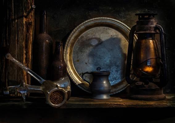 瓶,斩波器,时间过去了,灯,托盘