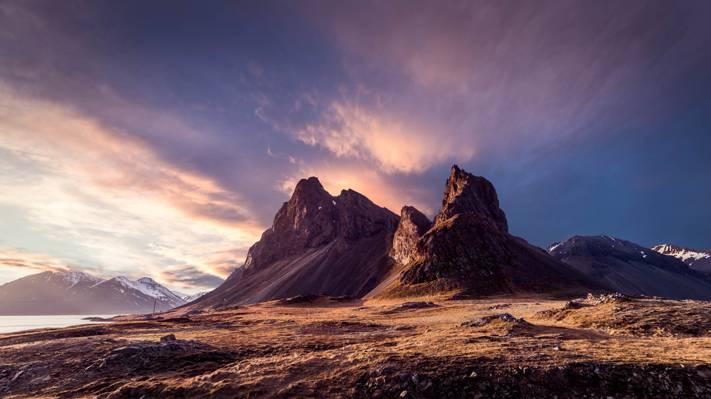 米色山在白天,冰岛高清壁纸