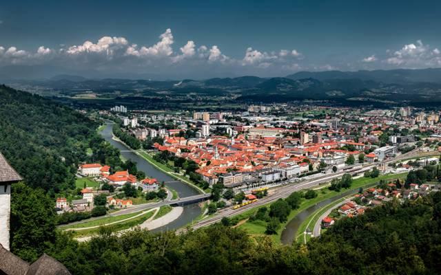 采列,采列,山,全景,斯洛文尼亚,斯洛文尼亚,建设,河