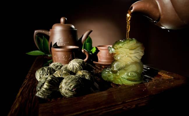 水壶,针织,茶叶,焊接,树叶,龙,中国,杯子,茶壶,盘子