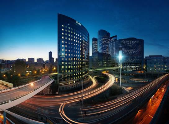 灯,巴黎,晚上,城市,节选